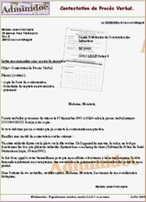 Exemple De Lettre Tresor Amende Adminidoc Contestation De Contravention Pour Exc 232 S De Vitesse