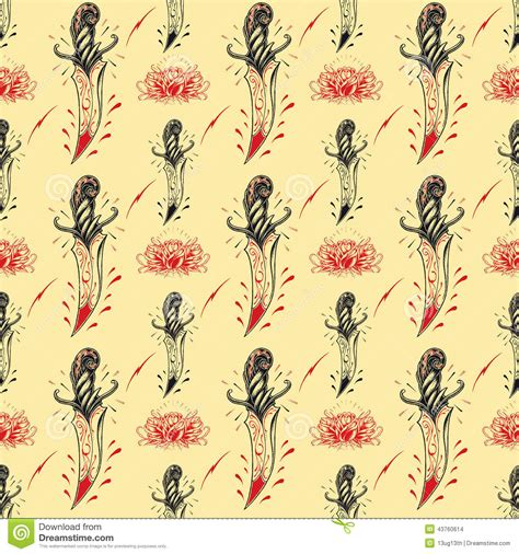 seamless pattern tattoo tattoo seamless pattern stock vector image of floral
