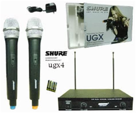 Mic Wireless Shure Ugx 32 Mic Handle 1 microphone aksesoris wireless kabel murah merk shure samson senheiser kenwood dll kaskus
