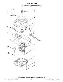 Kitchen Unit Parts by Parts For Kitchenaid 5ksb45ewh1 Blender
