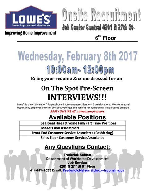 job openings at lowe s milwaukee neighborhood news service