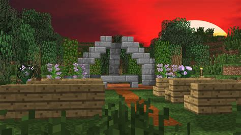 Minecraft Wedding Animation by Outdoor Wedding Schematic Scenery Mine Imator Forums