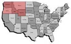 Map Of Nw United States by Northwestern United States Northwest U S Pacific Northwest