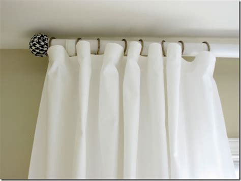 how to make homemade curtain rods how to make a curtain rod and finials with a tennis ball