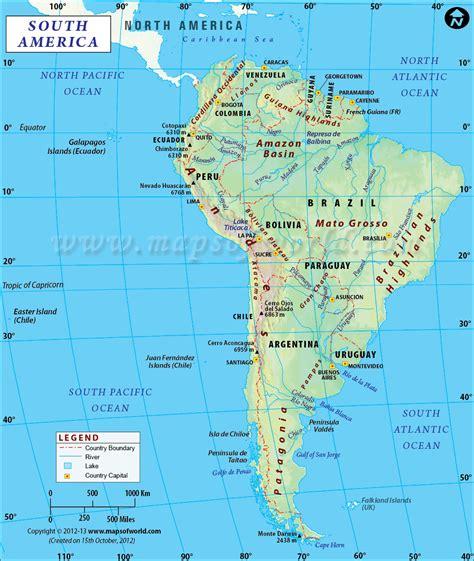 south america map desert ท ต ง ขนาด และอาณาเขตทว ปอเมร กาใต mt068