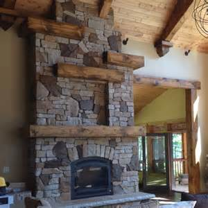 cabin fireplace homes