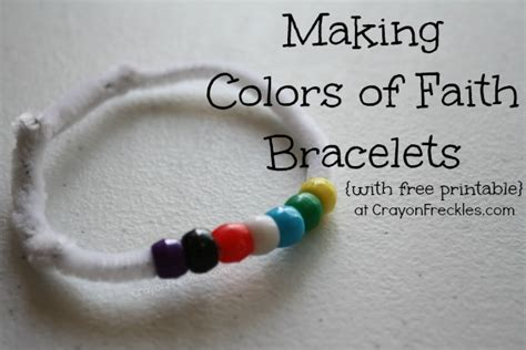 christian bead bracelets meanings crayon freckles colors of faith christian bracelet