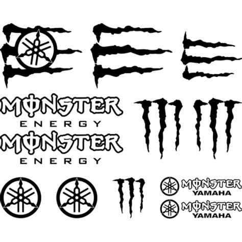 Monster Energy Sticker Kits Yamaha by Sticker Et Autocollant Kit Moto Monster Energy Yamaha