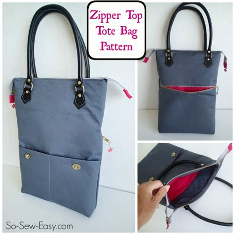 free pattern tote bag with zipper zipper top tote free bag pattern allcrafts free crafts