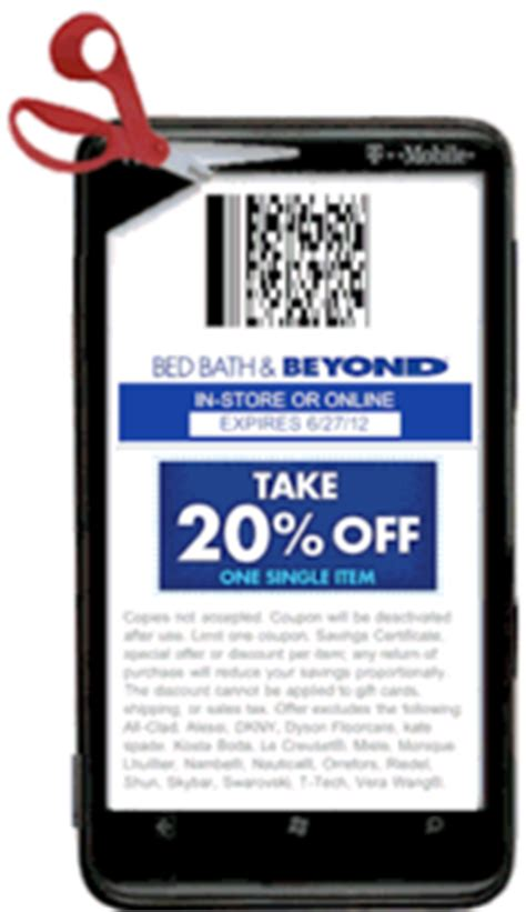 bed bath and beyond coupon on phone bed bath beyond mobile coupons codebroker