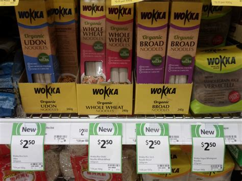 whole grain udon noodles new on the shelf at coles 26th october 2014 new