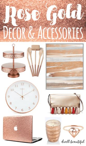 rose gold home decor home dwell beautiful