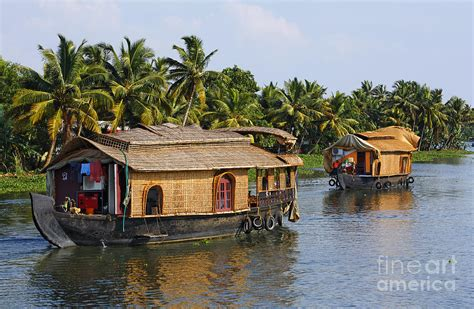 Home Decor Blogs India by Houseboats On The Kerala Backwaters Photograph By Robert