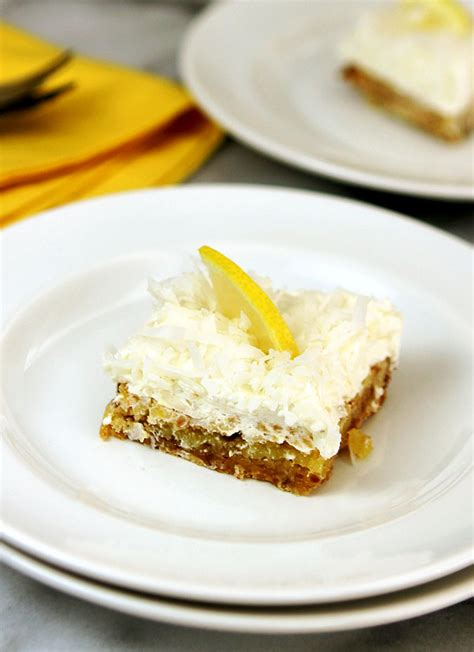 lemon bar topping nordstrom s lemon and coconut bars creative culinary a