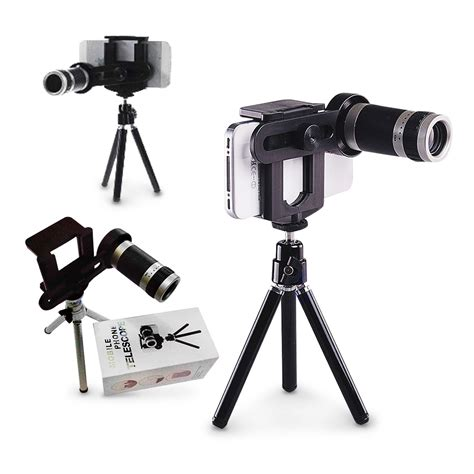 Tele Zoom Tripod lensa tele 8x optical zoom universal smartphone holder