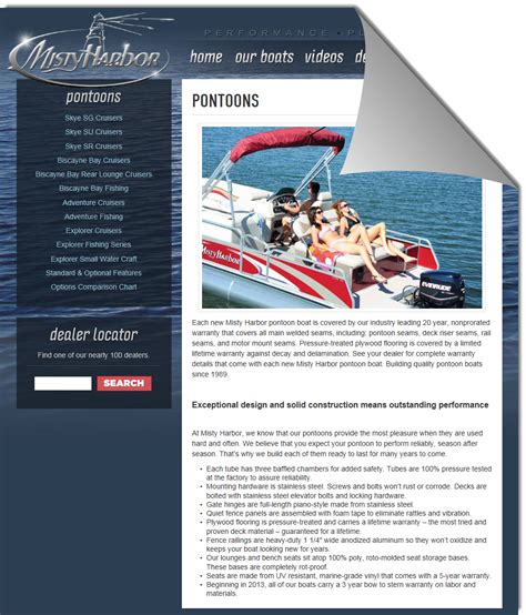 sea pro boats official website misty harbor boats for sale at hickory bluff marinehickory