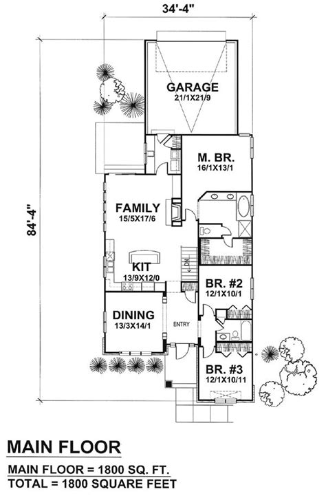 narrow lot house plans with basement narrow lot plan with basement drummond house plans
