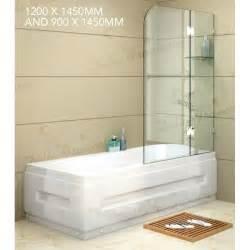 buy bathroom shower frameless glass bath shower screen panel 2 sizes buy