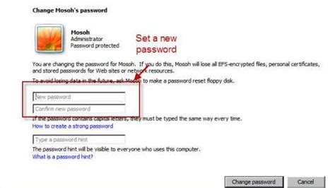 reset vista password safe mode how to reset windows 7 administrator user password in safe
