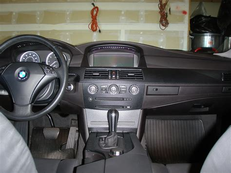bmw 5 e60 carbon interieur bmw e60 550i carbon fiber interior wrapped in black