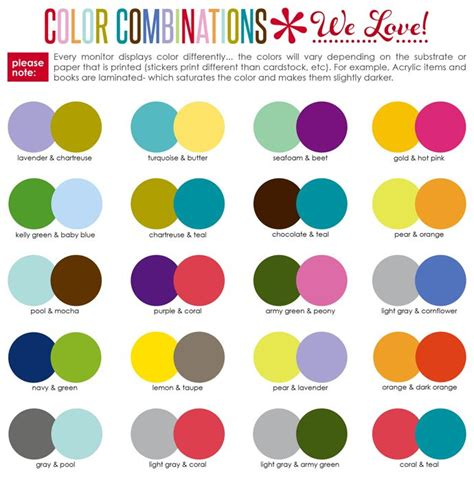 color combos 17 best ideas about good color combinations on pinterest