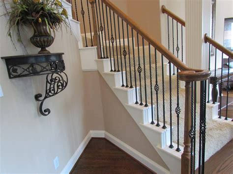 confortable metal banister spindles also iron stair