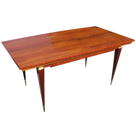 french art deco art moderne flame mahogany dining table