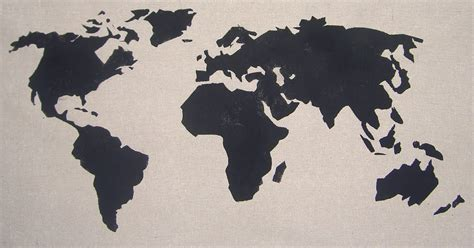 world map stencil chapman place world map pillow