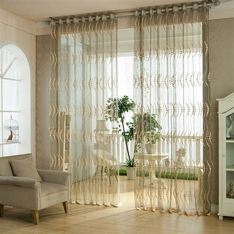 french voile curtain panels hot high quality modern embroidered voile curtain french