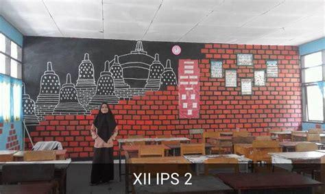 desain tema indonesia dekorasi ruang kelas yang kreatif menarik dan keren