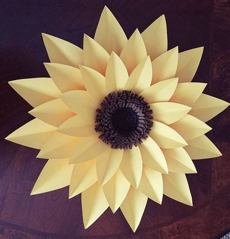 Sunflower By Paper - best 25 paper sunflowers ideas on sunflower