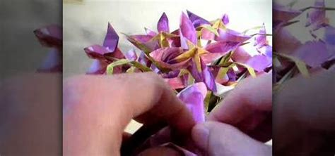 How To Make Paper Violets - how to origami a violet flower 171 origami wonderhowto