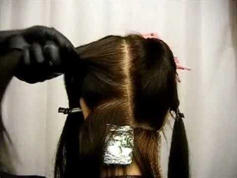 como hacer highliths en el cabello como hacer unos rayitos con aluminio parte 1 youtube