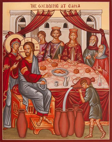 wedding at cana of galilee icons and echoes the wedding at cana