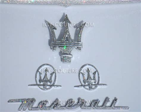 maserati grill emblem swarovski maserati emblems select your set
