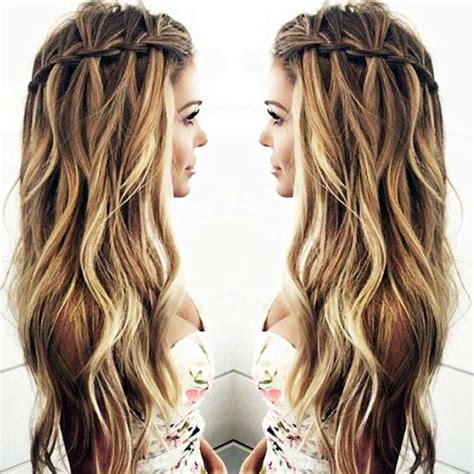 slimming prom hairstyles 25 hairstyles to slim down round faces waterfall twist