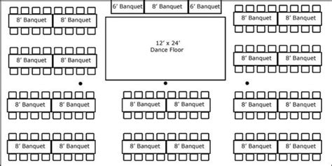 tent layout with banquet tables 30 x 60 w banquet tables buffet dance floor super