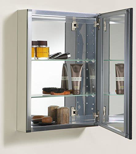 Bathroom Mirror With Storage Inside Kohler K 2967 Br1 Aluminum Cabinet With Rubbed Bronze Framed Mirror Door Rubbed Bronze