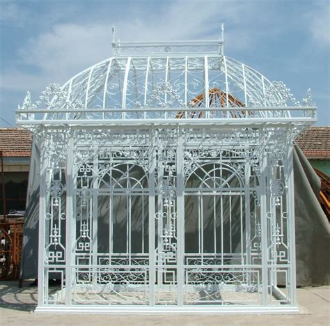 pavillon schmiedeeisen galerie dekor