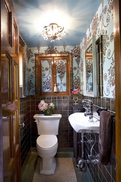 How To Make A Narrow Powder Room Feel Inviting And Comfortable 15 Ideas