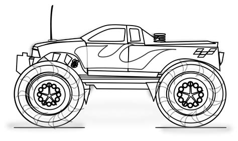 46 Images Of Free Monster Truck Coloring Pages Gianfreda Net Printable Color Page