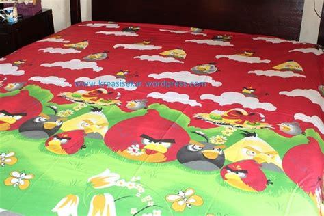 Sprei Katun Lokal Motif Angry Bird Uk120x200x25 Bed No3 kreasi sekar membuat indah ruangan anda