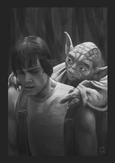 Luke y Yoda (Fotograma) por SirSirvent | Dibujando