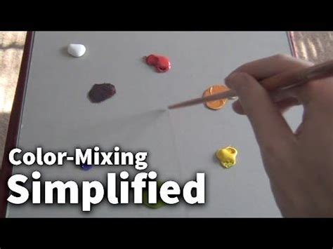acrylic paint color mixing recipes color mixing simplified 01 acrylic painting