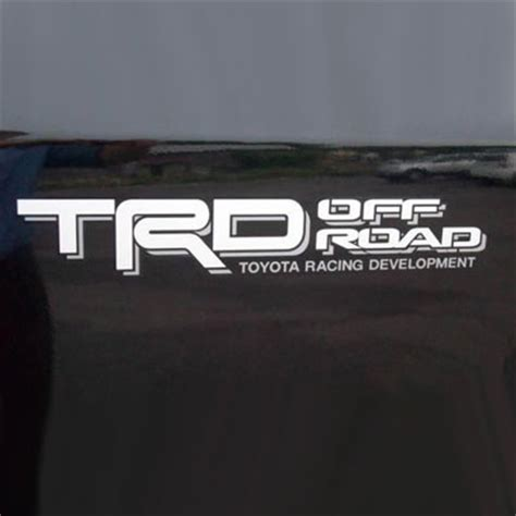 Sticker Trd Yaris Silver brand new genuine toyota trd road decal from