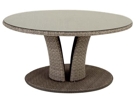 table de jardin ronde table de jardin hesp 233 ride r 233 sine ronde tress 233 e libertad taupe