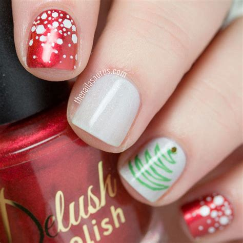 easy nail art for xmas 7 easy christmas nail art ideas the nailasaurus uk