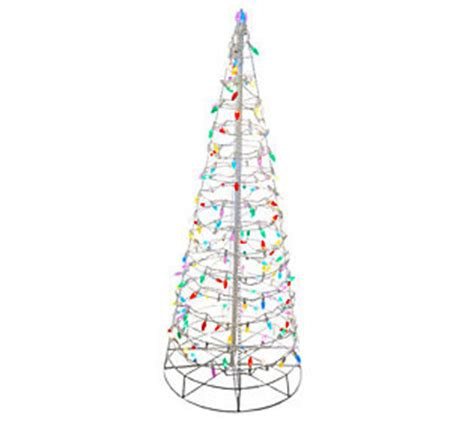 collapsible tree with lights 4 pre lit collapsible outdoor tree with led
