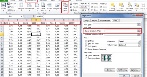 printable excel instructions excel print headings in every page tutorial the excel how to
