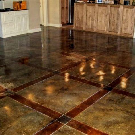 fancy acid washed concrete forget tile or floors